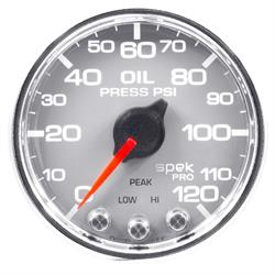 Auto Meter P32521 Spek-Pro Oil Pressure Gauge, 2-1/16, 0-120 PSI, Domed