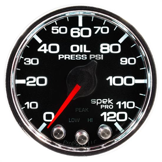 Auto Meter P32531 Spek-Pro Oil Pressure Gauge, 2-1/16, 0-120 PSI, Domed