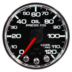 AutoMeter P32531 Spek-Pro Oil Press. Gauge,2-1/16,0-120 PSI,Domed