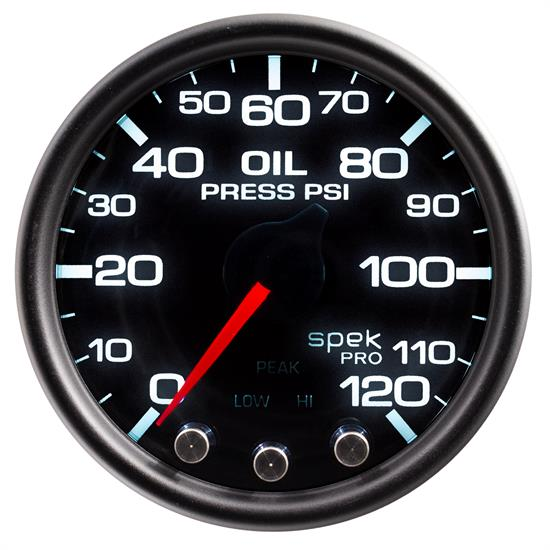 Auto Meter P32552 Spek-Pro Oil Pressure Gauge, 2-1/16, 0-120 PSI, Domed