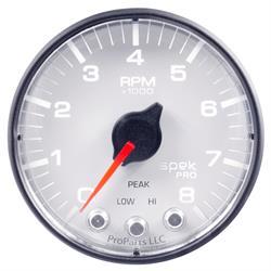 Auto Meter P334128 Spek-Pro Tachometer, 2-1/16, 0-8,000 RPM, Flat Lens