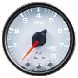 Auto Meter P33412 Spek-Pro Tachometer, 2-1/16, 0-8,000 RPM, Domed Lens
