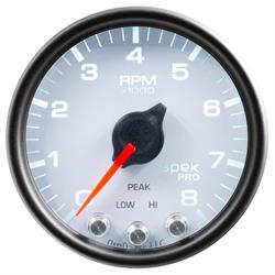 Auto Meter P33412 Spek-Pro Tachometer, 2-1/16, 0-8,000 RPM, Domed Lens
