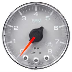 Auto Meter P334218 Spek-Pro Tachometer, 2-1/16, 0-8,000 RPM, Flat Lens