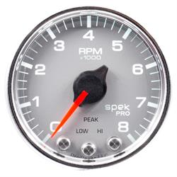 Auto Meter P33421 Spek-Pro Tachometer, 2-1/16, 0-8,000 RPM, Domed Lens