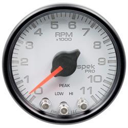 Auto Meter P33612 Spek-Pro Tachometer, 2-1/16, 0-11,000 RPM, Domed Lens