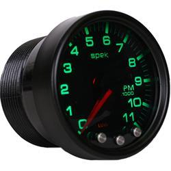 Auto Meter P33652 Spek-Pro Tachometer, 2-1/16, 0-11,000 RPM, Domed Lens
