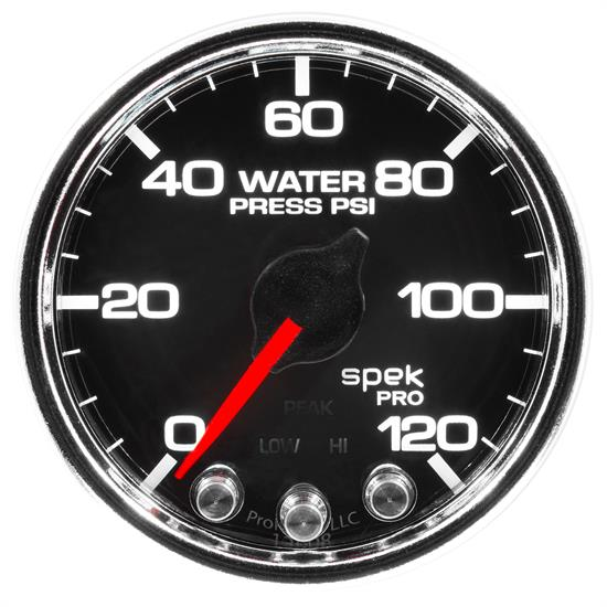 Auto Meter P34531 Spek-Pro Water Press. Gauge, 2-1/16, 0-120 PSI, Domed
