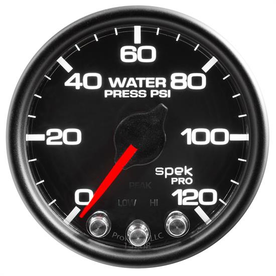 Auto Meter P34532 Spek-Pro Water Press. Gauge, 2-1/16, 0-120 PSI, Domed