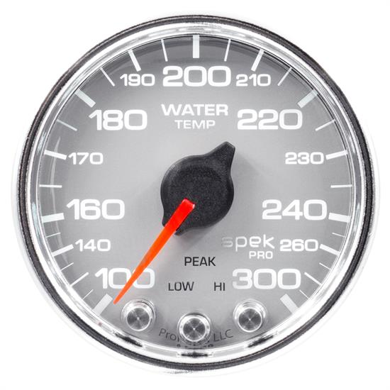 Auto Meter P34621 Spek-Pro Water Temp Gauge, 2-1/16, 100-300 Deg., Domed
