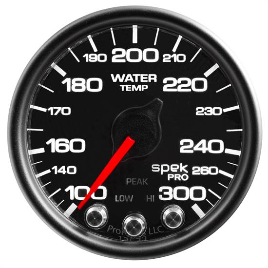 Auto Meter P34632 Spek-Pro Water Temp Gauge, 2-1/16, 100-300 Deg., Domed