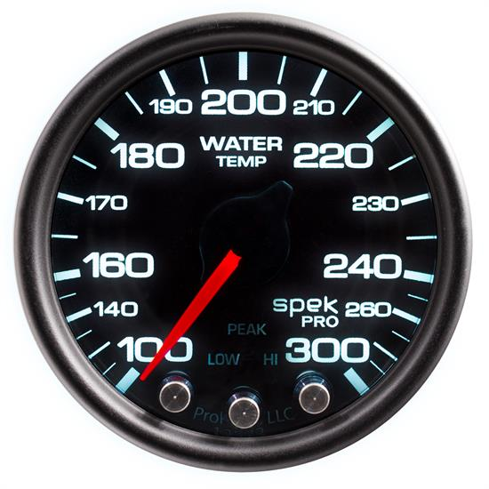 Auto Meter P34652 Spek-Pro Water Temp Gauge, 2-1/16, 100-300 Deg., Domed