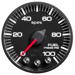 Auto Meter P514328 Spek-Pro Fuel Pressure Gauge, 2-1/16, 0-100 PSI, Flat