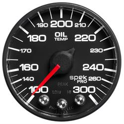 Auto Meter P52232 Spek-Pro Oil Temp Gauge, 2-1/16, 100-300 Deg., Domed