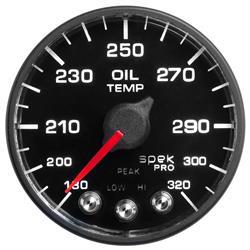 Auto Meter P553328-N1 Spek-Pro Oil Temp Gauge, 2-1/16, 180-320 Deg.
