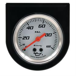Equus E5244 5000 Series 2 Inch Oil Pressure Gauge w/Panel, 100PSI