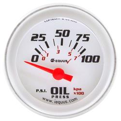 Equus E8264 8000 Series 2 Inch Electric Oil Pressure Gauge
