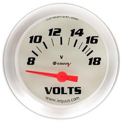 Equus E8268 8000 Series 2 Inch Electric Volt Gauge, 8-18V