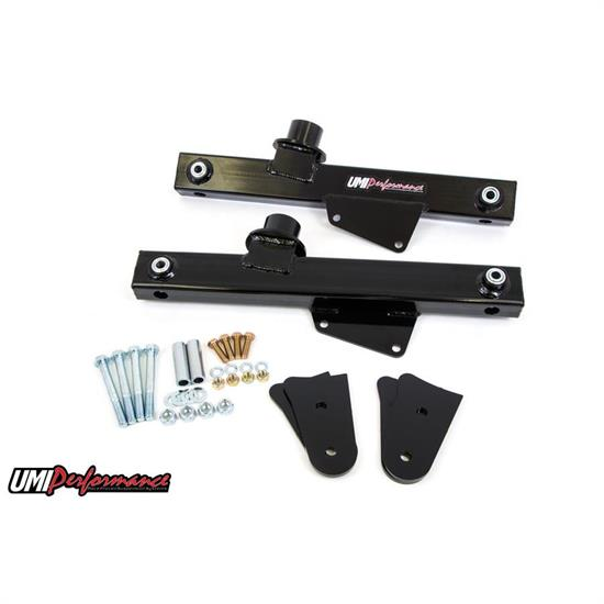 UMI 1026-B 99-04 Mustang Rear Lift Bars, Boxed Steel Tubing,Black