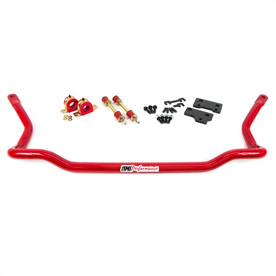 UMI 2117-R 82-92 F-Body Front Sway Bar, 1-3/8 Inch Solid, Red