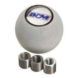 B&M 46110 Shifter Knob - White with B&M Logo Insert