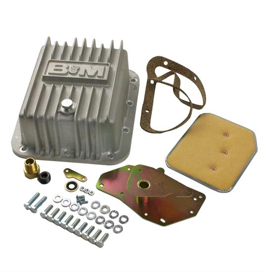 B&M 50281 Cast Deep Transmission Pan for C4 Transmission