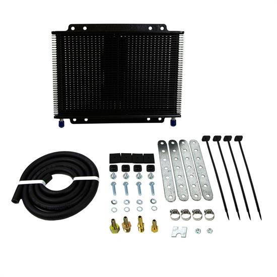 B&M 70268 Oil Cooler, Medium Supercooler 13,000 BTU Rating, Black