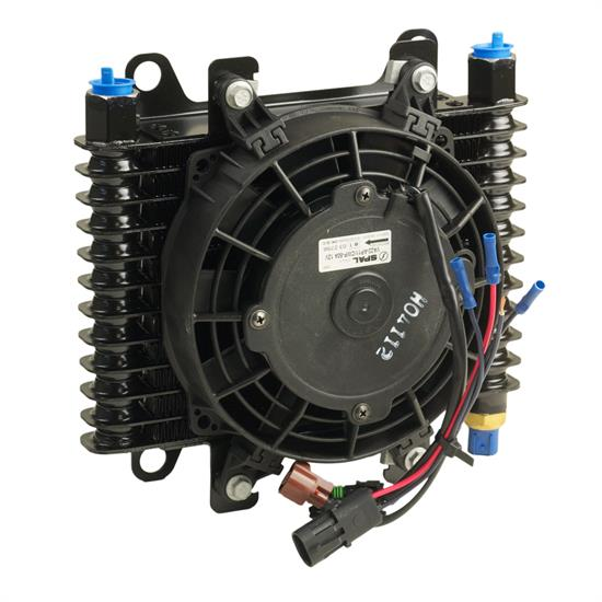 B&M 70298 Oil Cooler, Medium Hi Tek Cooling System w/Fan, 350 CFM