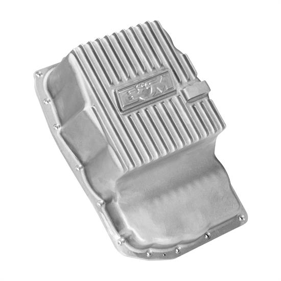 B&M 70392 Cast Aluminum Trans Pan for 6L80E - Natural
