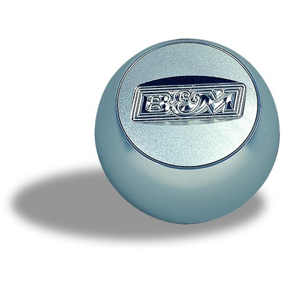 B&M 80534 Billet Quicksilver Knob with B&M Logo