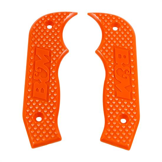 B&M 81203 Shifter Accessory, Orange Magnum Grip Side Plates