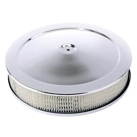 Chrome Deep Dish Air Cleaner, 14 x 5 Inch