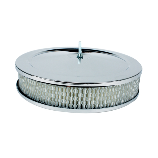 Four Bbl Carb Air Cleaners : Quot chrome plated steel air cleaner assembly bbl barrel