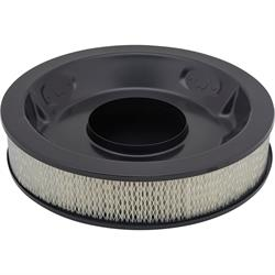 Universal Black 14 Inch Round Air Cleaner Set, 3 Inch Tall