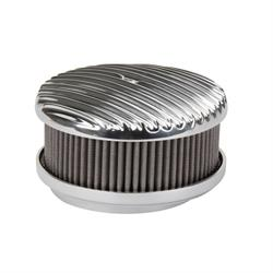 OTB Gear 4451 Full Fin Air Cleaner, Offset Base, Polished