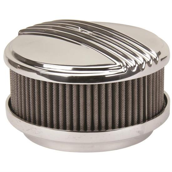 Polished Straight Base OTB Gear 4470 Mohawk Style Air Cleaner