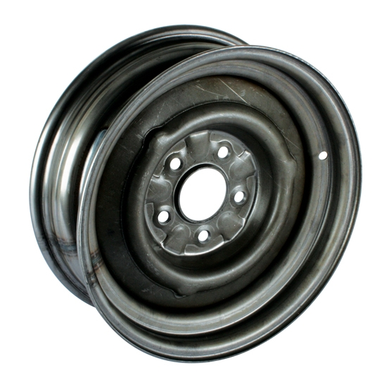 Speedway O/E Style Hot Rod Raw Steel Wheel, 15x5, 5 on 4.75, 3.0 BS