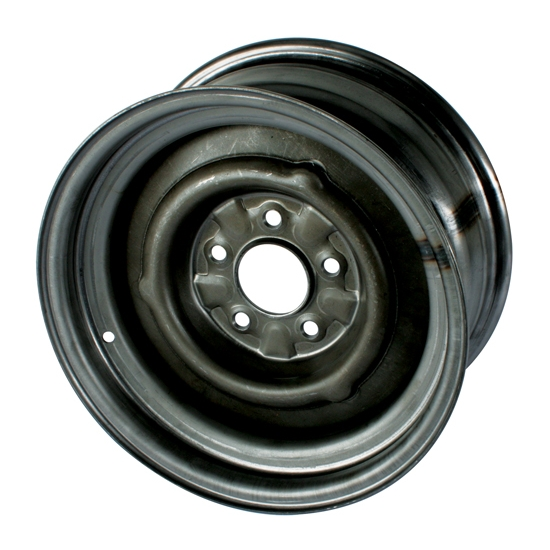 Speedway O/E Style Hot Rod Raw Steel Wheel, 15x8, 5x4.5, 4.25 BS