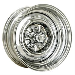 Speedway O/E Style Hot Rod Chrome Steel Wheel 15x8, 5 on 4.75, 4.25 BS