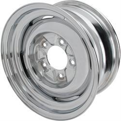 Speedway Vintage 15x7 Steel Wheels, 5 on 5.5, 4 Inch BS