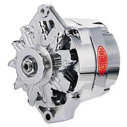 Powermaster 17127 Street Alternator, 85 Amps, V-belt, 12V, GM