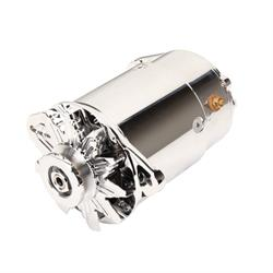 Powermaster 182111 Shorty PowerGEN Early GM Alternator, 12-Volt, Chr.