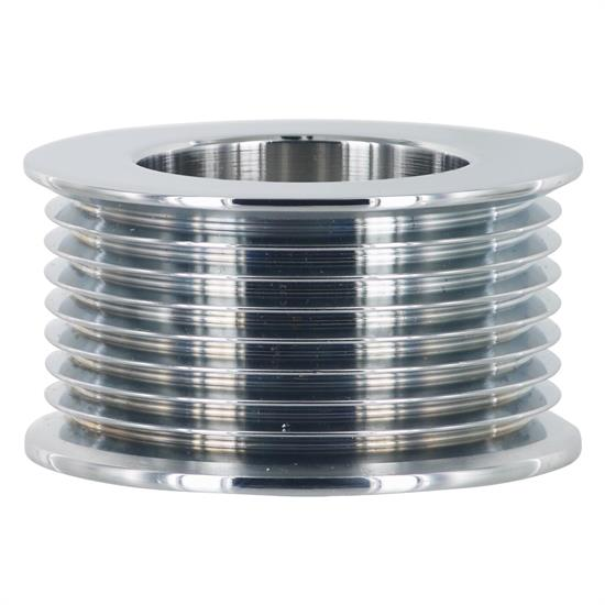 Powermaster 201 Alternator Pulley, 8-Groove, 2.28 Inch OD, Chrome