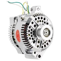 Powermaster 37759 Street Alternator, 200A, Serp and V-belt, Ford