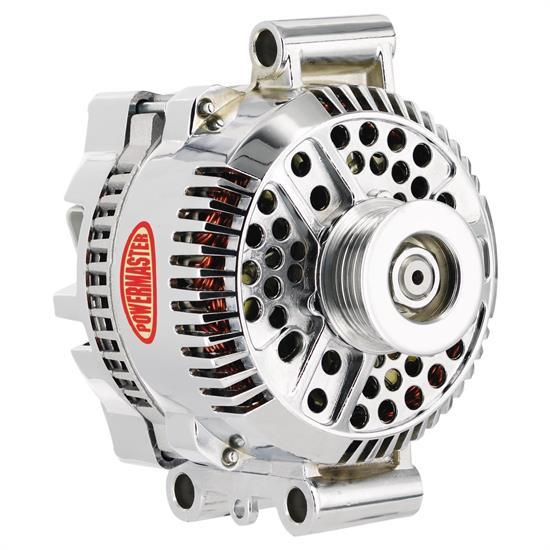 Powermaster 37768 Street Alternator, 200A, Serpentine, 12V, Ford