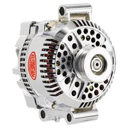 Powermaster 37768 Street Alternator, 200A, Serpentine, 12V, Ford