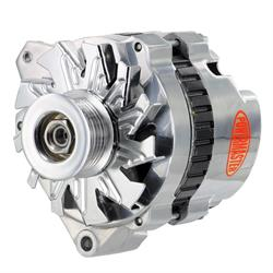 Powermaster 678618 GM CS130 XS Alternator, 140A, Polished, Left