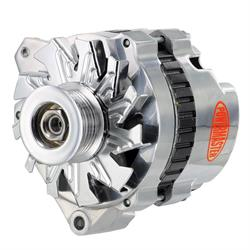 Powermaster 67902 GM CS130 140A Polished Alternator, 6-Grv. Left