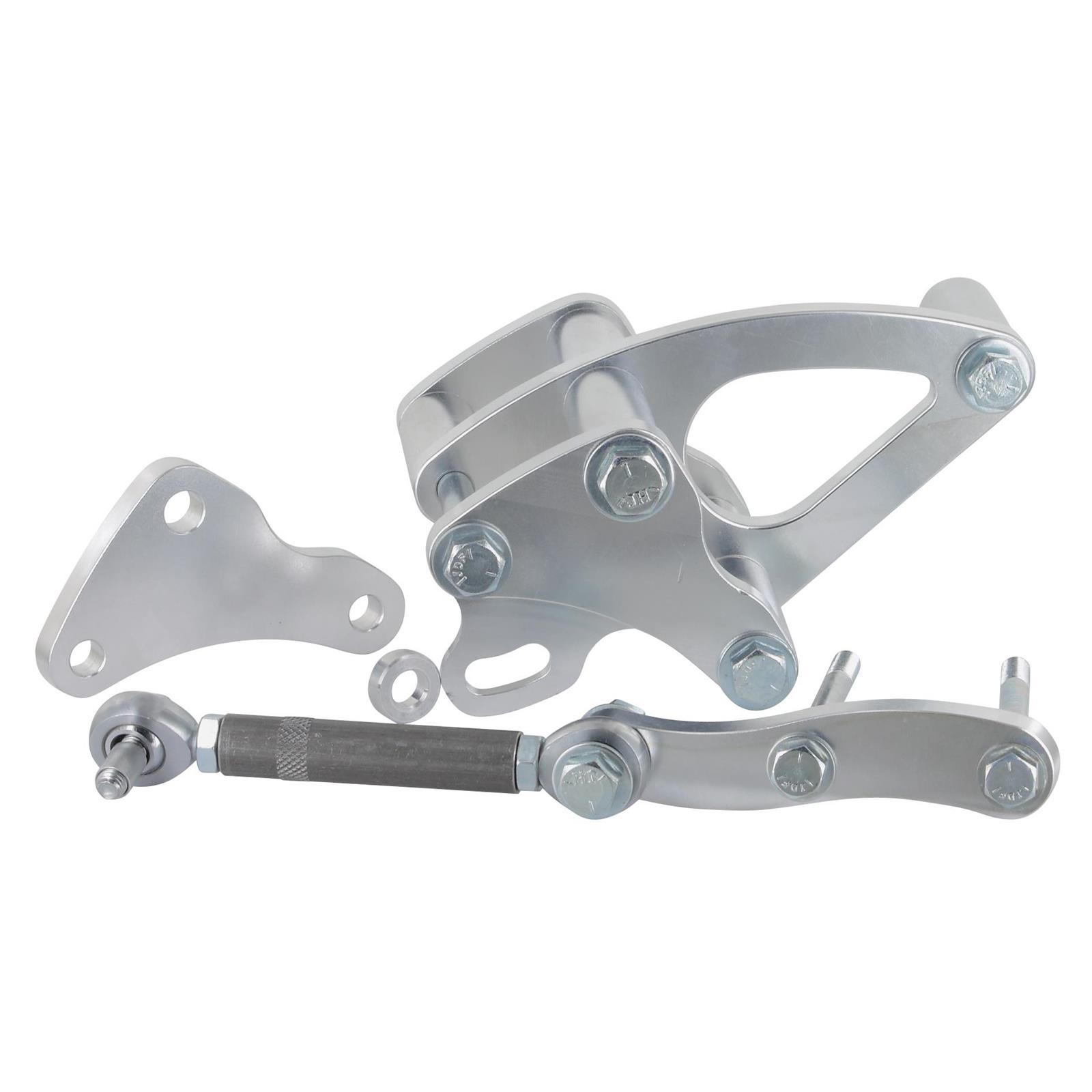 Chrome Universal Arm Style Alternator Bracket Mount Water Pump GM Ford Others