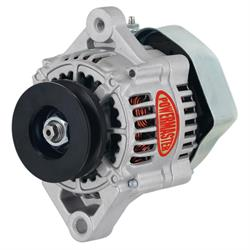 Powermaster 8173 Denso Style Race Alternator, 75A, 100mm, Natural